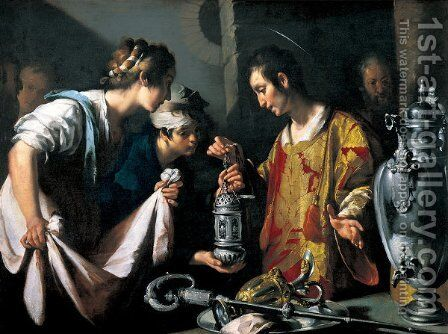 St. Lawrence Distributing the Riches of the Church by Bernardo Strozzi - Reproduction Oil Painting