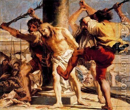 Flagellation by Giovanni Domenico Tiepolo - Reproduction Oil Painting
