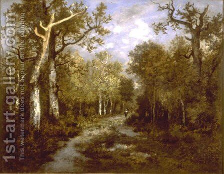 The Forest of Fontainebleau by Theodore Rousseau - Reproduction Oil Painting