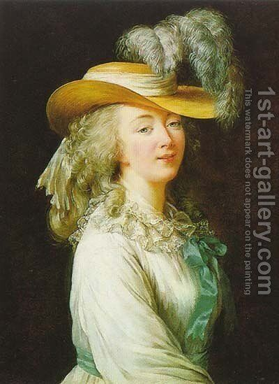 Portrait of Madame du Barry 2 by Elisabeth Vigee-Lebrun - Reproduction Oil Painting