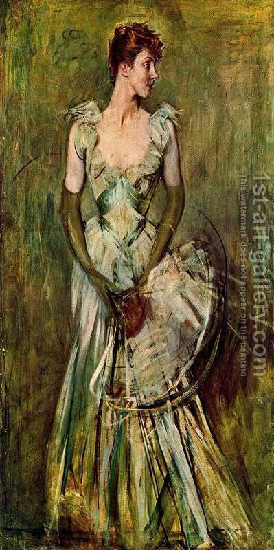 Portrait of Countess de Leusse by Giovanni Boldini - Reproduction Oil Painting
