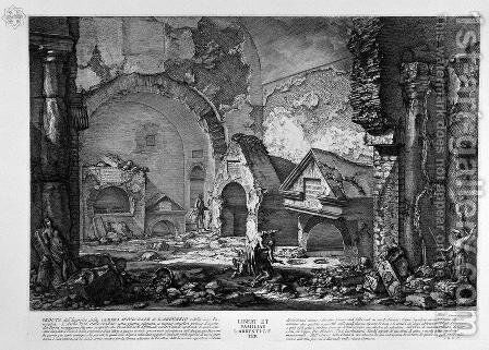 The Roman antiquities, t. 2, Plate IX. Plan of the burial chambers of 'Liberti, and Family L. Arrunzio. by Giovanni Battista Piranesi - Reproduction Oil Painting
