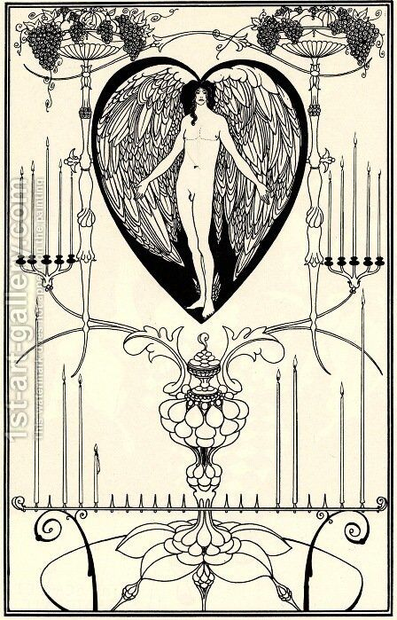 The Mirror of Love by Aubrey Vincent Beardsley - Reproduction Oil Painting