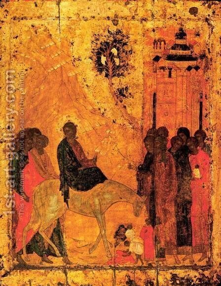 Lord's entry into Jerusalem by Andrei Rublev - Reproduction Oil Painting