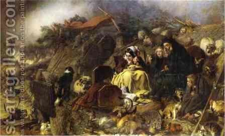 Flood in the Highlands by Sir Edwin Henry Landseer - Reproduction Oil Painting