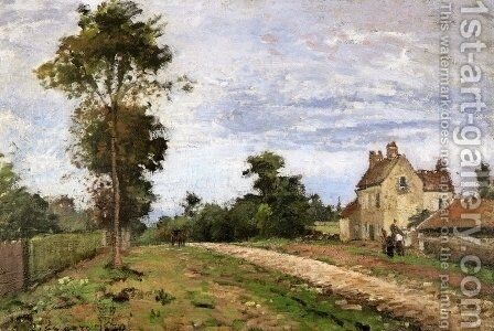 The House of Monsieur Musy, Louveciennes by Camille Pissarro - Reproduction Oil Painting