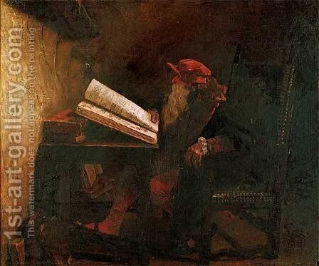 Faust by Jean-Paul Laurens - Reproduction Oil Painting