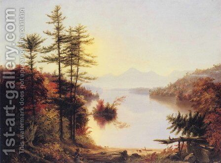 View on Lake Winnipiseogee by Thomas Cole - Reproduction Oil Painting