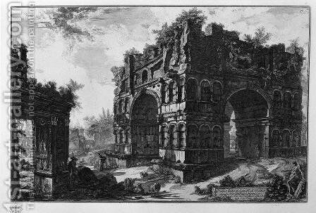 Commonly called the Temple of Janus by Giovanni Battista Piranesi - Reproduction Oil Painting