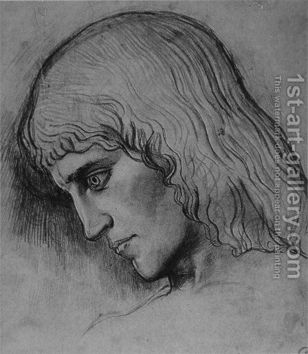 Study for the head of Oedipus by Gustave Moreau - Reproduction Oil Painting