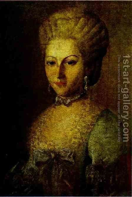 Portrait of Agrafena Ribeaupierre by Carl-Ludwig Christinek - Reproduction Oil Painting