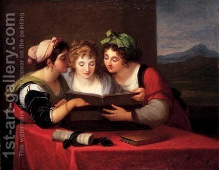 Three singers by Angelica Kauffmann - Reproduction Oil Painting