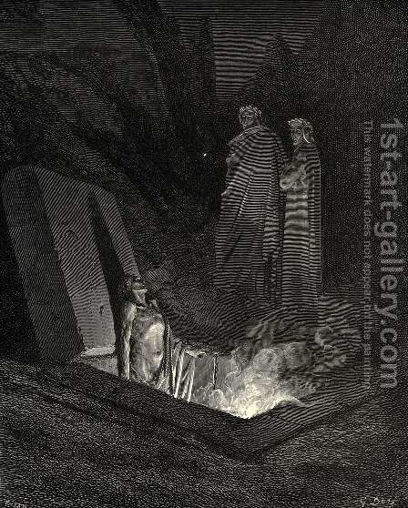The Inferno, Canto 10 by Gustave Dore - Reproduction Oil Painting