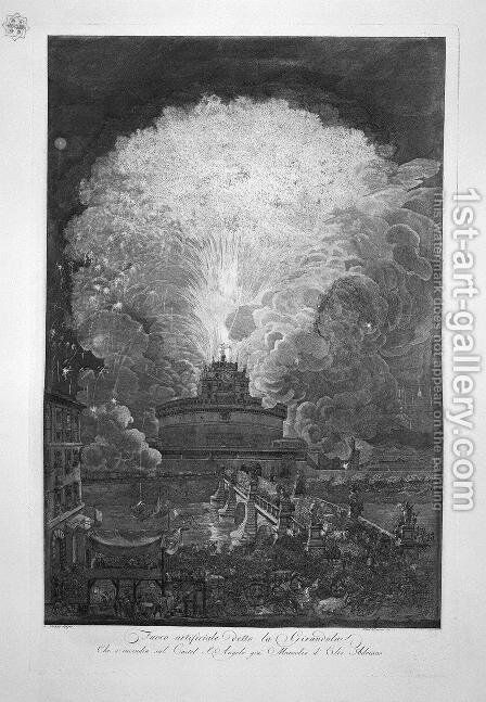 The Windmill at Castel S. Angelo, design of L Despres 3 by Giovanni Battista Piranesi - Reproduction Oil Painting