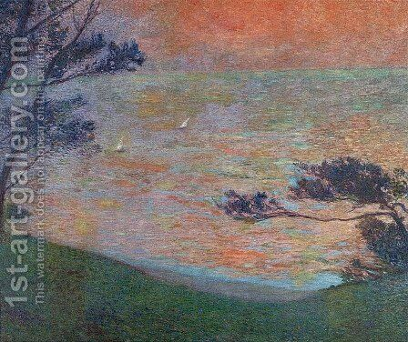Sunset at Sea by Henri Martin - Reproduction Oil Painting
