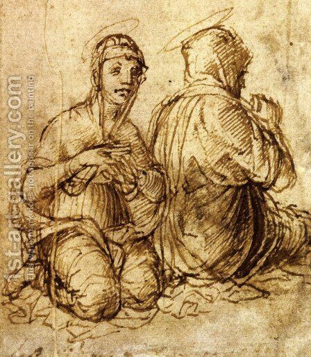 Two holy women in prayer by Andrea Mantegna - Reproduction Oil Painting
