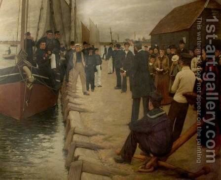 A Mission to Seamen by Henry Herbert La Thangue - Reproduction Oil Painting