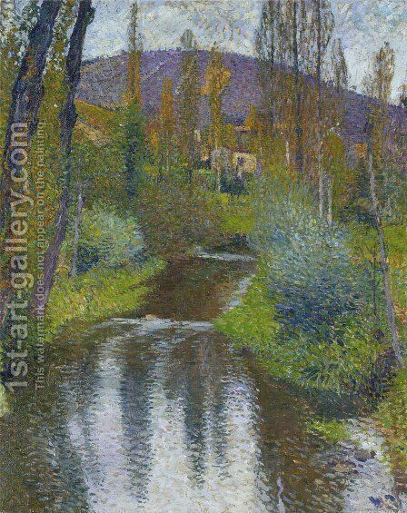 The Vert and the first houses of Labastide by Henri Martin - Reproduction Oil Painting