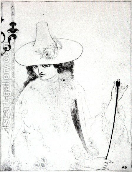 On Alert by Aubrey Vincent Beardsley - Reproduction Oil Painting