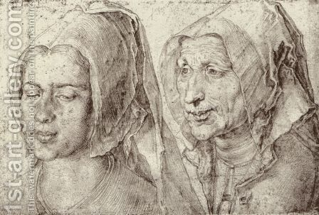 An Young and Old Woman from Bergen op Zoom by Albrecht Durer - Reproduction Oil Painting