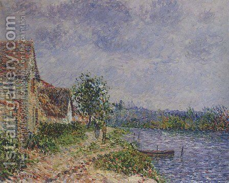 Port Joie by Gustave Loiseau - Reproduction Oil Painting