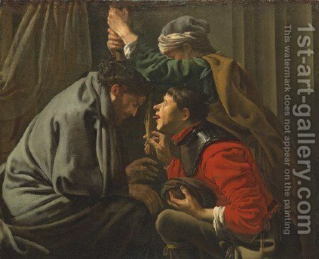 The Mocking of Christ by Hendrick Terbrugghen - Reproduction Oil Painting