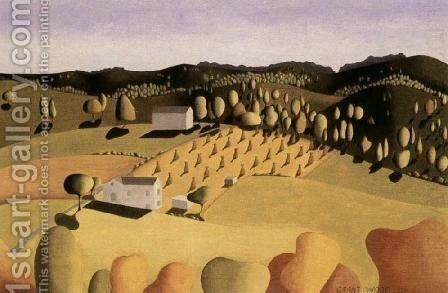 Some of corn by Grant Wood - Reproduction Oil Painting