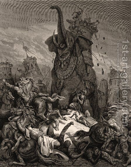 Death of Eleazer by Gustave Dore - Reproduction Oil Painting