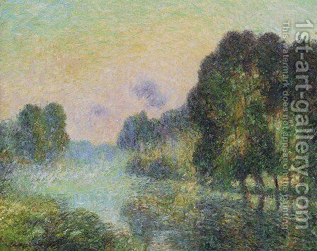 By the Eure River   Fog Effect by Gustave Loiseau - Reproduction Oil Painting