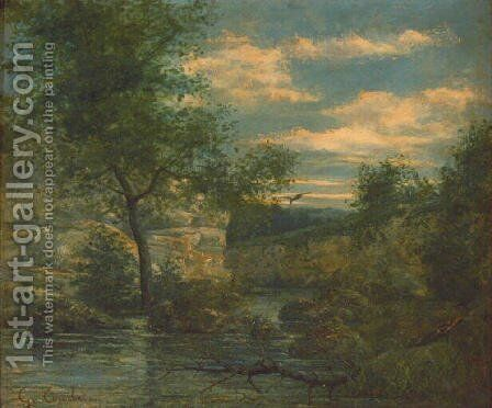 Riverside by Gustave Courbet - Reproduction Oil Painting