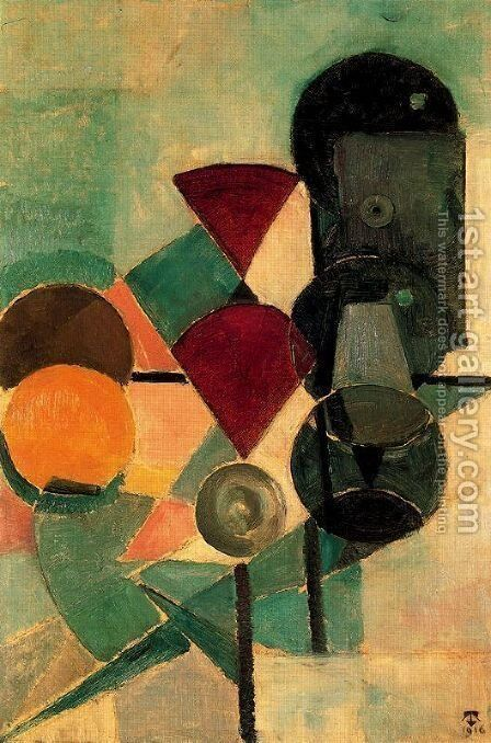Composition II (Still life) by Theo van Doesburg - Reproduction Oil Painting