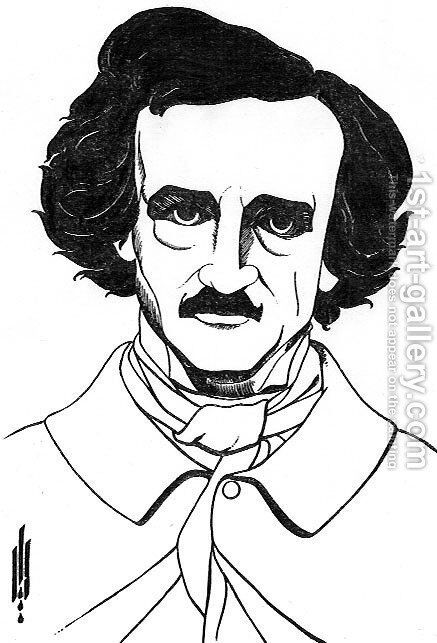 By Edgar Allan Poe by Aubrey Vincent Beardsley - Reproduction Oil Painting
