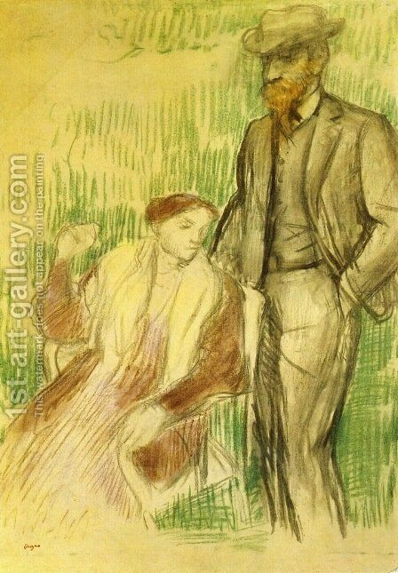 Study for a Portrait by Edgar Degas - Reproduction Oil Painting