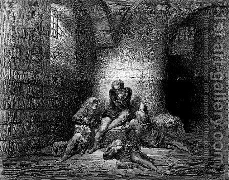 Ugolino 2 by Gustave Dore - Reproduction Oil Painting