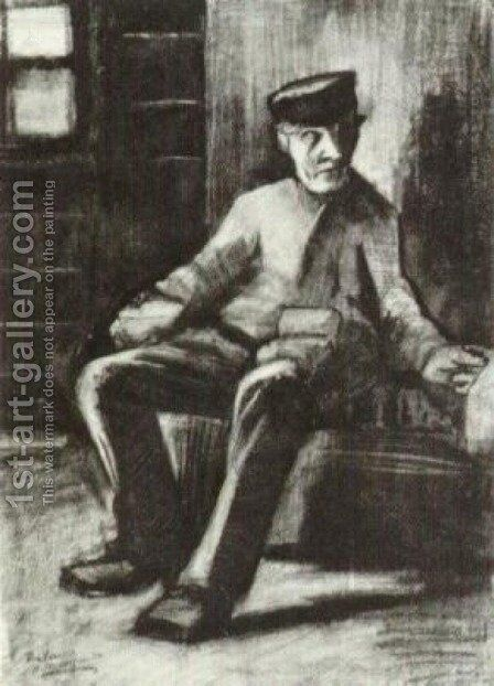 Blind Man Sitting in Interior by Vincent Van Gogh - Reproduction Oil Painting
