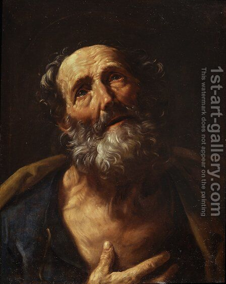 St. Peter Penitent by Guido Reni - Reproduction Oil Painting