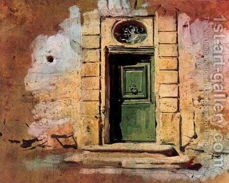 Door in Montmartre by Giovanni Boldini - Reproduction Oil Painting