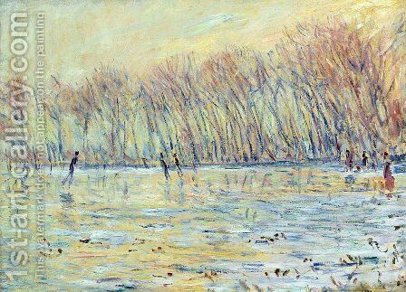 Scaters in Giverny by Claude Oscar Monet - Reproduction Oil Painting