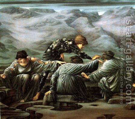 Perseus And The Graiae by Sir Edward Coley Burne-Jones - Reproduction Oil Painting