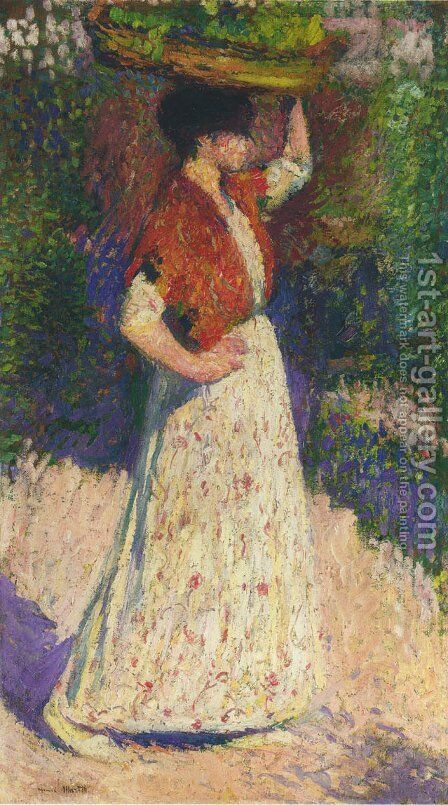 Vintaging Girl by Henri Martin - Reproduction Oil Painting