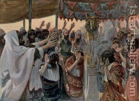 The Golden Calf, as in Exodus by James Jacques Joseph Tissot - Reproduction Oil Painting