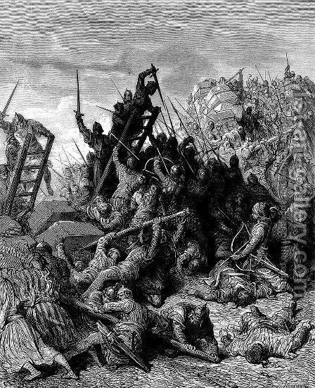The Siege of Ptolemais 2 by Gustave Dore - Reproduction Oil Painting