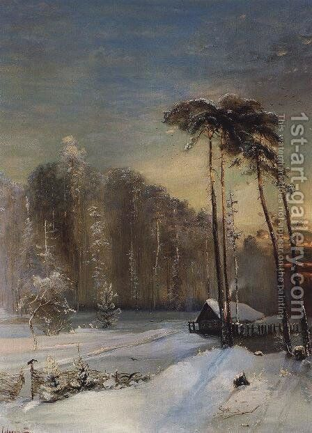 Forest in the frost by Alexei Kondratyevich Savrasov - Reproduction Oil Painting