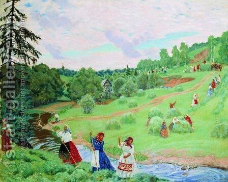 Haymaking 2 by Boris Kustodiev - Reproduction Oil Painting