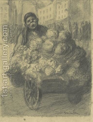 Steet Vendor by Theophile Alexandre Steinlen - Reproduction Oil Painting