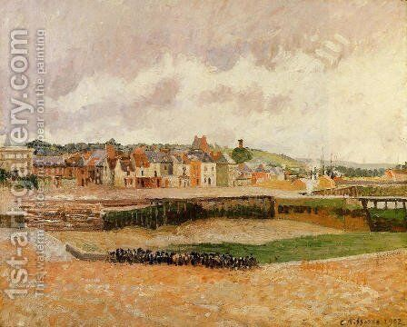 Afternoon, the Dunquesne Basin, Dieppe, Low Tide 2 by Camille Pissarro - Reproduction Oil Painting