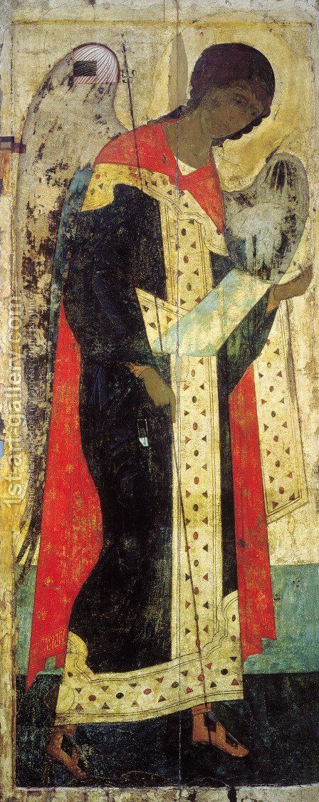 Archangel Michael 2 by Andrei Rublev - Reproduction Oil Painting