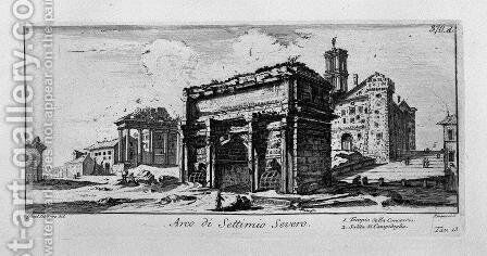 Arch of Constantine in Rome by Giovanni Battista Piranesi - Reproduction Oil Painting