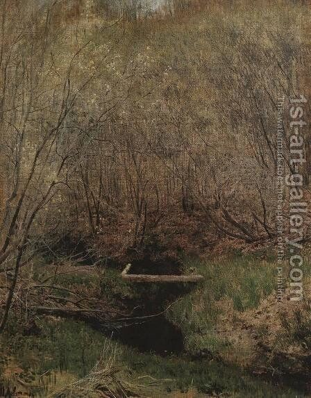 Spring in the Forest by Isaak Ilyich Levitan - Reproduction Oil Painting