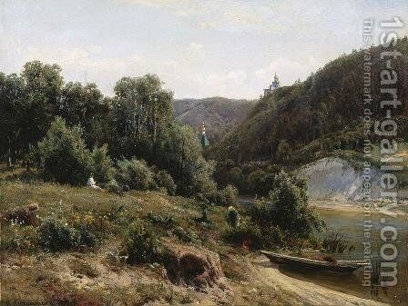 Near the monastery 2 by Ivan Shishkin - Reproduction Oil Painting
